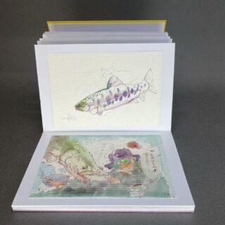 水引編み蛇腹(じゃばら)折ノート-スタンプブック1