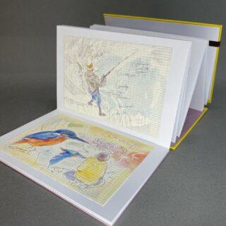 水引編み蛇腹(じゃばら)折ノート-スタンプブック2